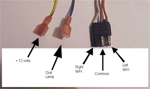 wiring identification for a ford radio - 8 track unit